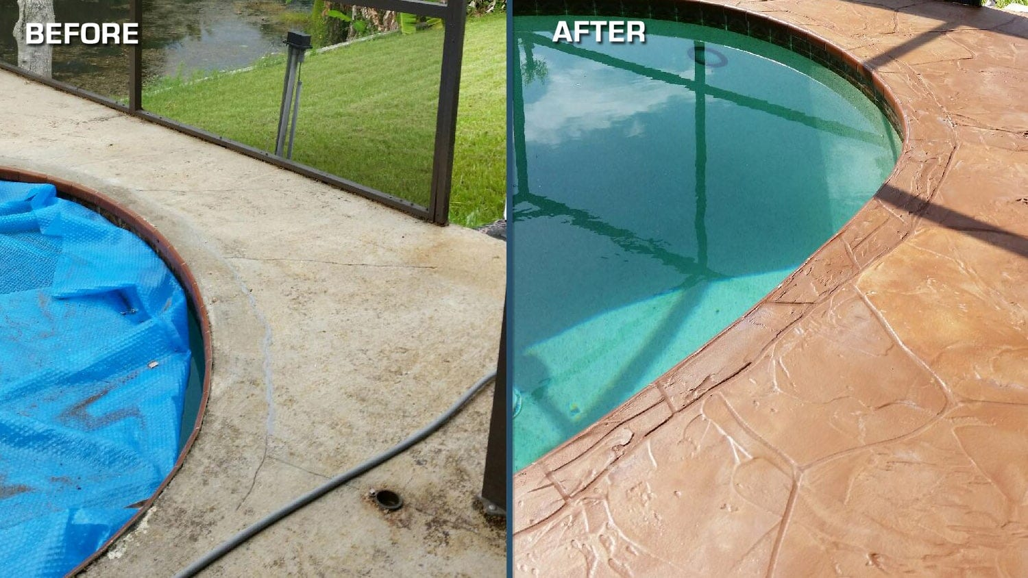 Resurface your pool deck west palm beach concrete for Pool resurfacing