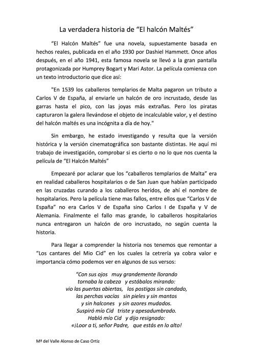 María del Valle Alonso - La verdadera historia de El Halcón Maltés