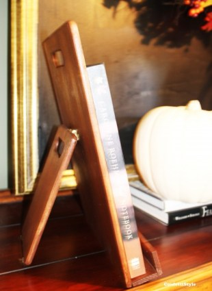 DIY Wood Book Stand by ConfettStyle6