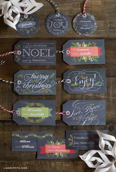 Lia Griffith Holiday Tags