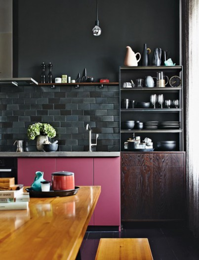 Black Kitchen via Splendid Habitat
