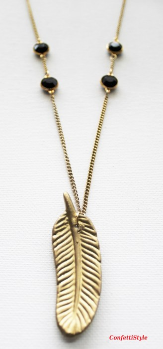 Gold Leaf Necklace by ConfettiStyle6
