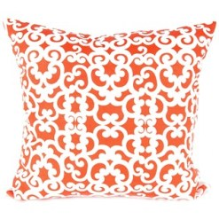 Orange and White Swirls Pillow $7.99