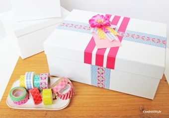 Washi Tape Gift Wrap by ConfettiStyle