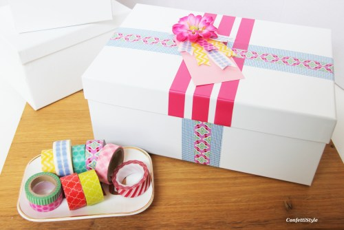 Washi Tape Gift Wrap by ConfettiStyle1