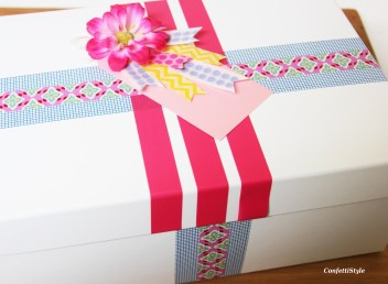 Washi Tape Gift Wrap by ConfettiStyle6