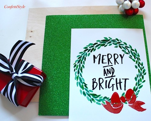 DIY Merry & Bright Placemat-2