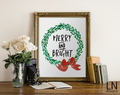 Merry and Bright--My Love Note Designs