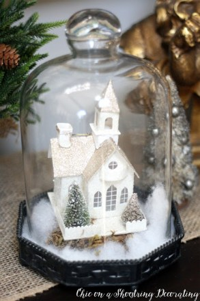Ornaments Under Glass--ChicOnAShoeString