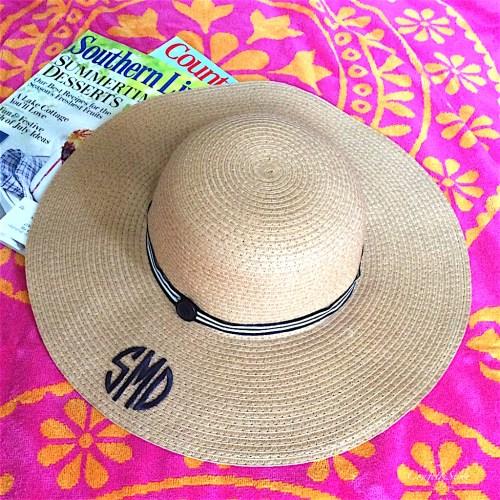 Mongram Straw Hat2