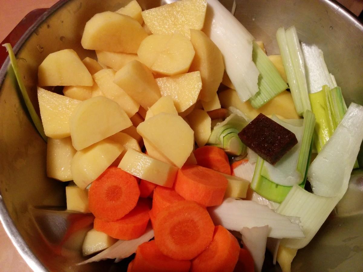 Recette Velouté poireaux, pommes de terre, carottes au Cook Expert de Magimix
