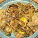 Zucchini and Mushroom Saute over Couscous