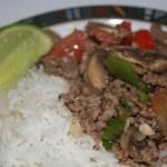Thai Beef + Veggies + Coconut Rice = Yummy!