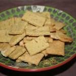 VeganMofo: Gluten Free Rosemary Crackers