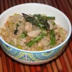 Asparagus and Leek Fried Rice