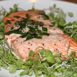 Baked Salmon with Ramps