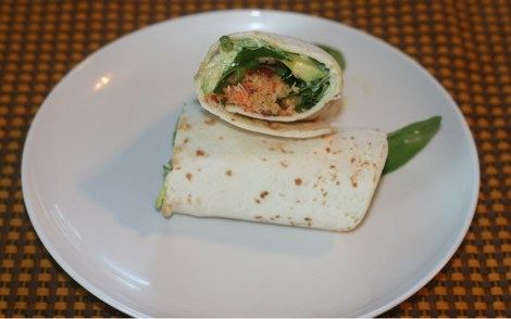 Salmon Burger Wraps