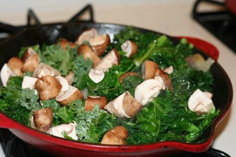 Kale and Mushroom Frittata