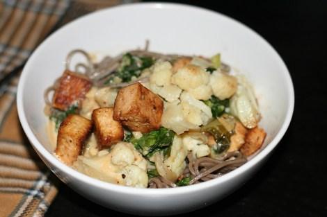 Soba Noodles in Miso Tahini Sauce