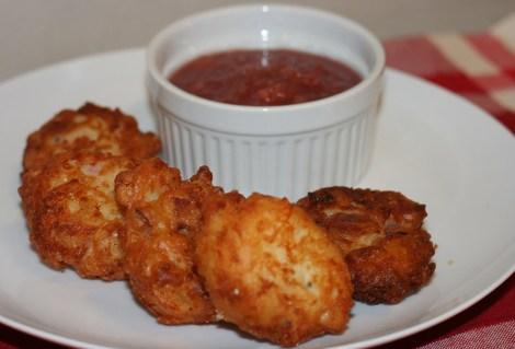 fritters-and-sauce