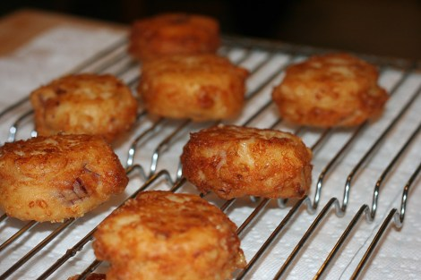 fritters-draining