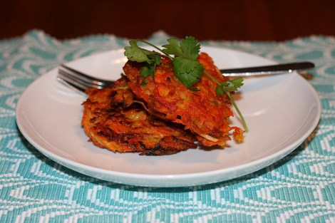 carrot-ginger-latkes