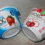 Yoplait vs. Chobani 100 Calorie Strawberry Greek Yogurt Taste Off