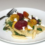Roasted Beets and Beet Greens with Pasta