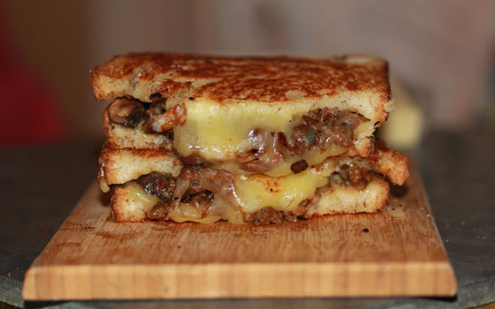 Italian Sausage & Monterey Jack Grilled Cheese