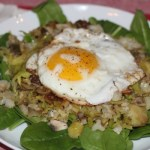 Brussel Sprout, Cauliflower & Mushroom Hash