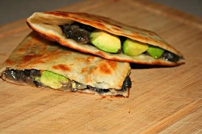 Black Bean and Avocado Quesadillas