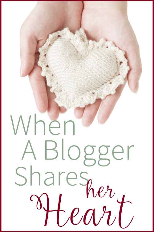 When a blogger shares her heart