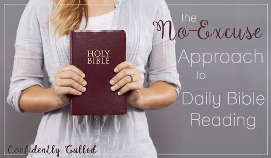 the no excuse approach to bible reading
