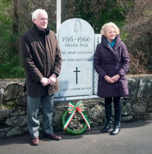 Oliver Twomey and Breed Tobin McGrath laid the wreath