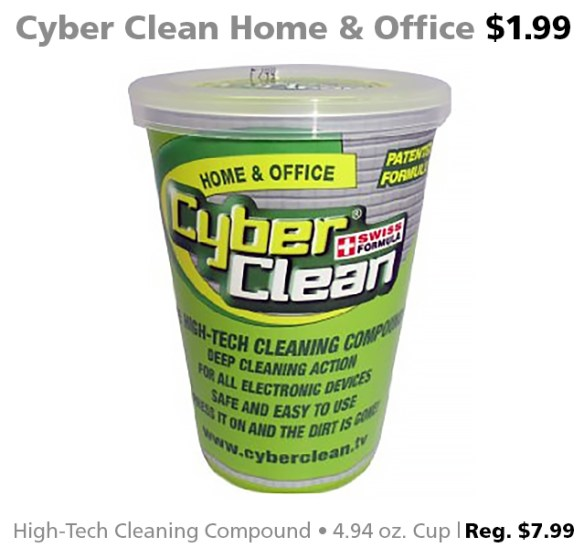 Cyber Clean Home & Office High-Tech Cleaning Compound 4.94oz. for $1.99 (reg. $7.99)