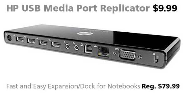 HP USB Media Port Replicator for $9.99 (reg. $79.99)