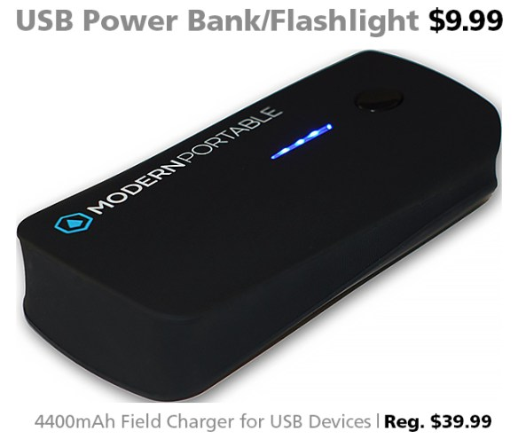 4400mAh USB Power Bank for $9.99 (reg. $39.99)