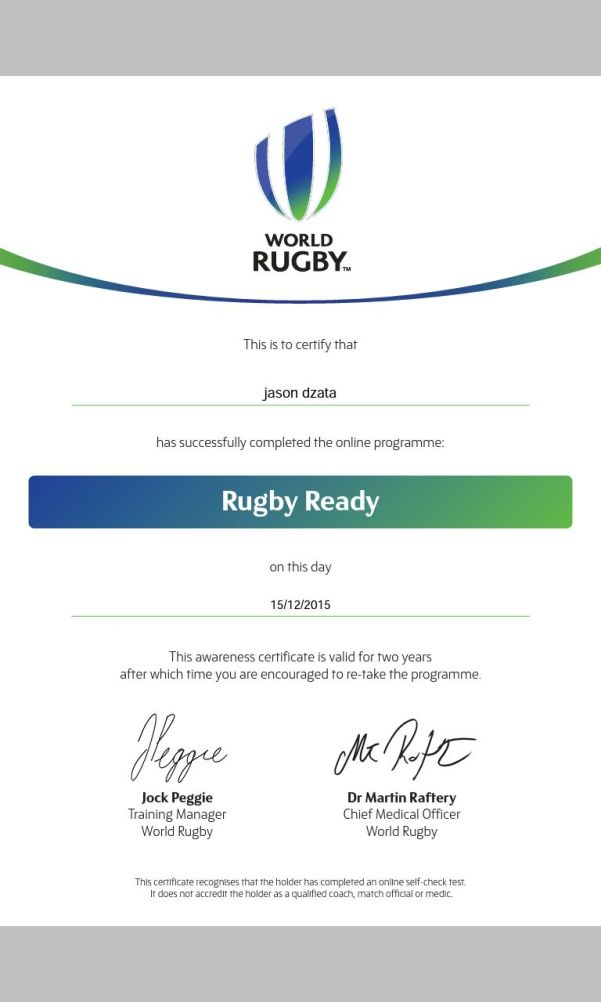 Jason Certificate