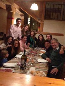 Ceña Año nuevo con amigos