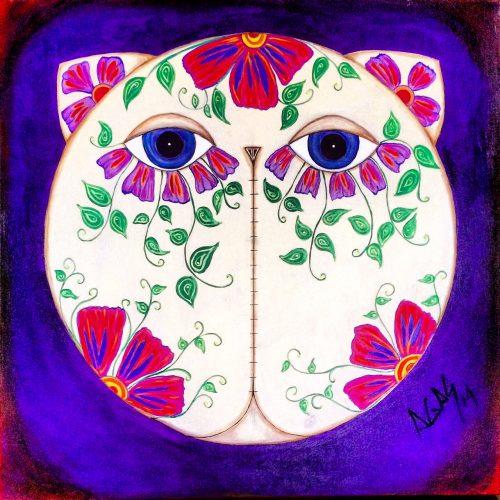 El Dio de Los Gatos Muertos - inspired by the Mexican catrinas