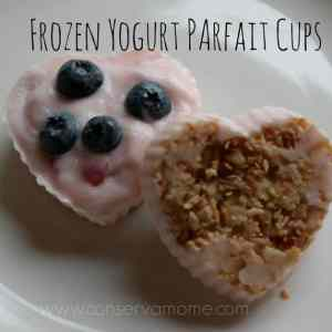 Frozen Yogurt Parfait Cups