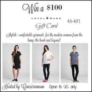 Loyal Hana $100 Gift Card Giveaway ends 4/17