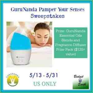 GuruNanda Pamper Your Senses Sweepstakes ends 5/31