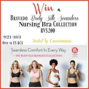Bravado Designs Body Silk Seamless Nursing Bra Collection Giveaway (RV$200) ends 10/3