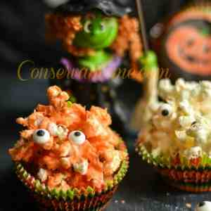 Spooky Popcorn Treats