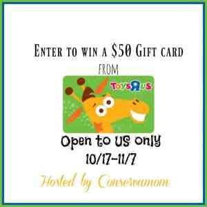 $50 Toys R US Gift Card Giveaway ends 11/7