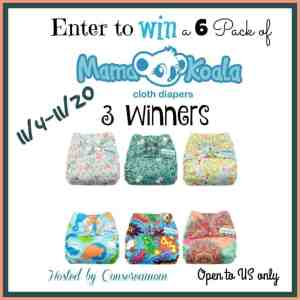 Mama Koala Cloth Diaper Mega Giveaway 3 Winners!