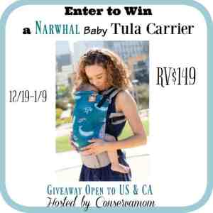 Tula Baby Carrier Giveaway in Narwhal Ends 1/9
