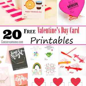 20 Free Valentine's Day Card Printables