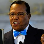 Farrakhan tells cheering crowd that God is against the white man.